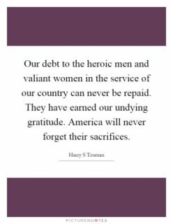 Our Debt to Vets