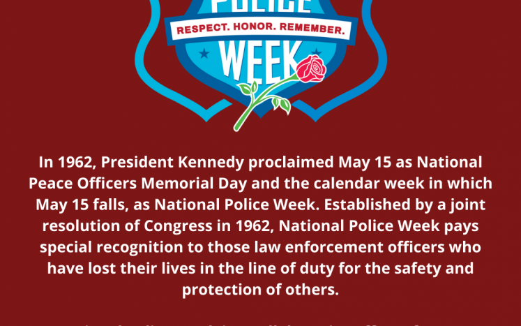 National Police Week and National Peace Officers Memorial Day poster