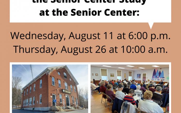 Senior Center Meetings poster