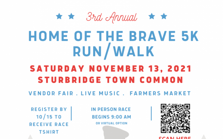 Home of the Brave 5K flyer for 11/13/2021